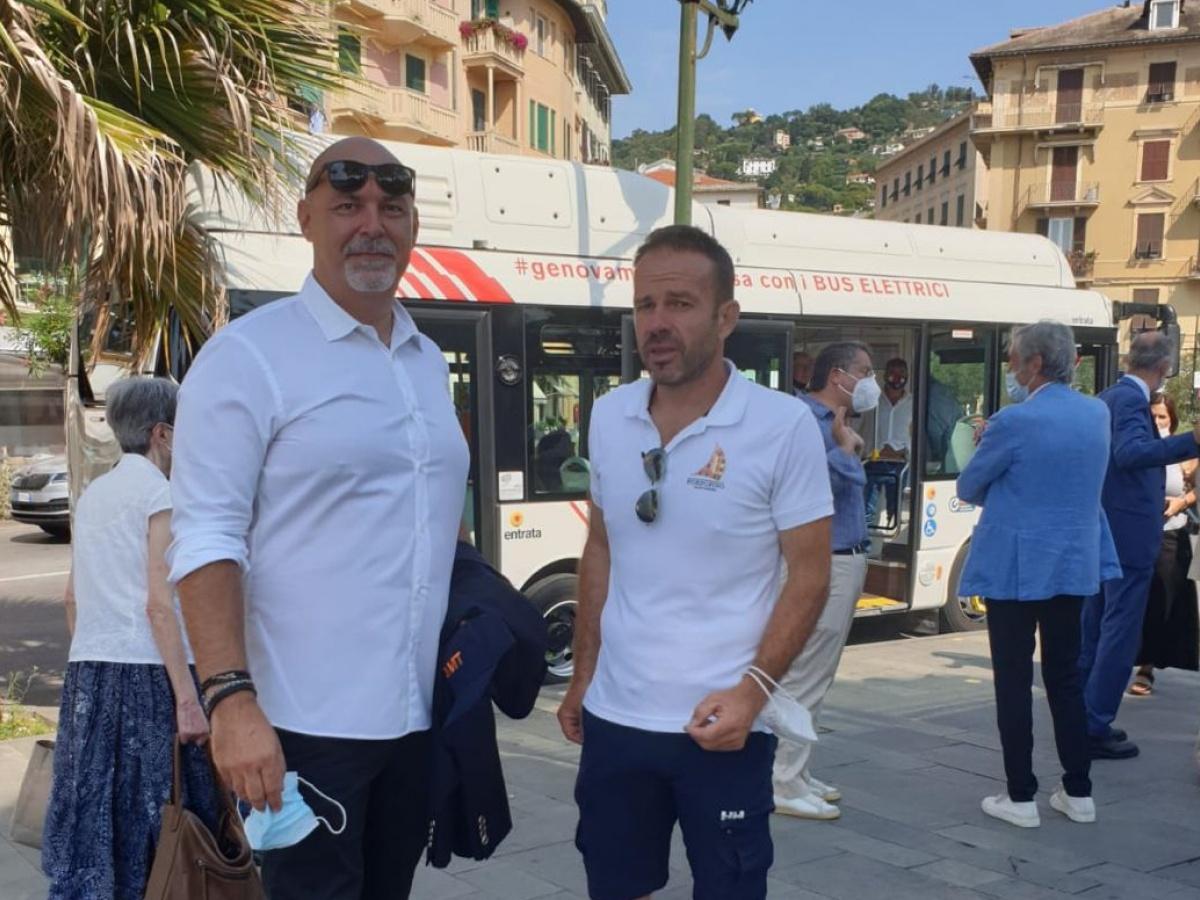 Eng. Fabio Magnoni with Dr Matteo Viacava, mayor of Portofino