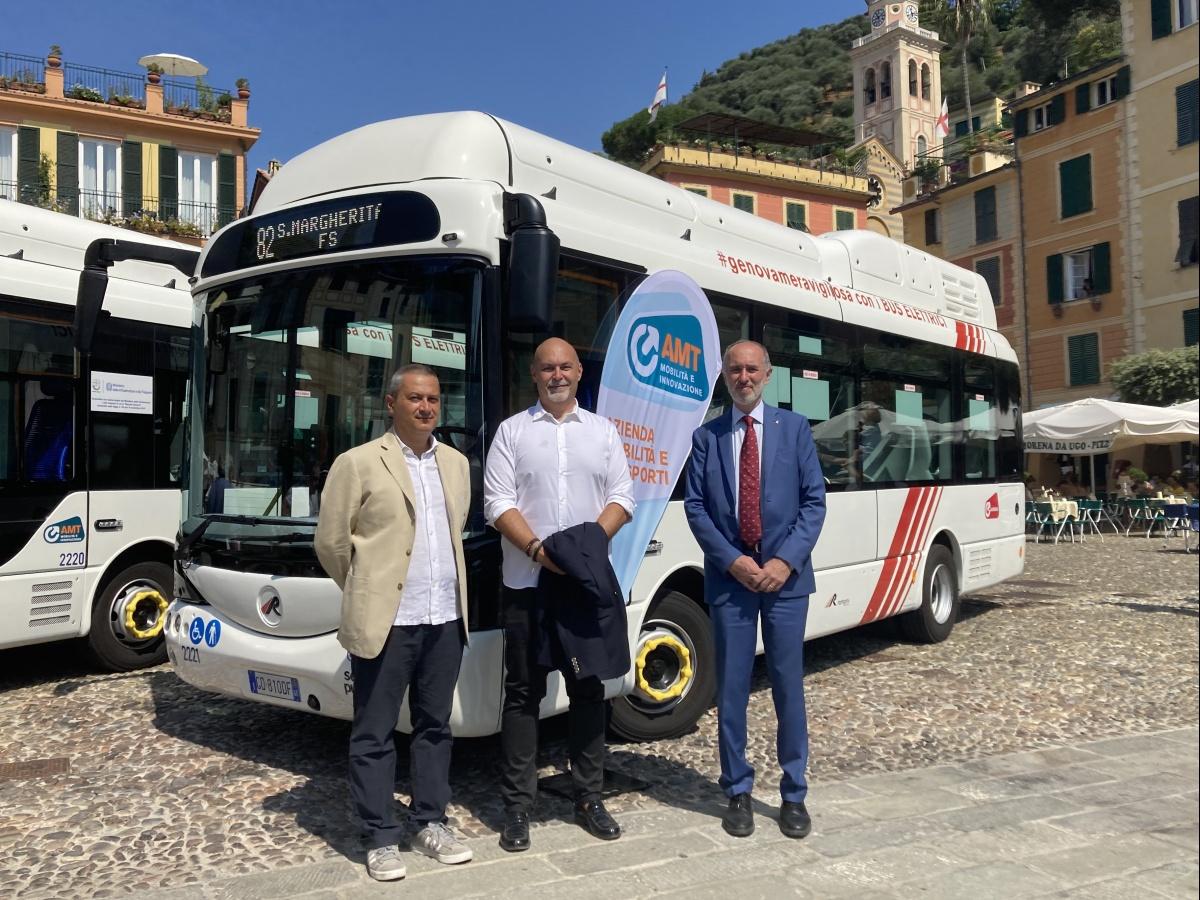 Eng.Andrea Rampini, Eng. Fabio Magnoni and Eng.Marco Beltrami (AMT Genova)